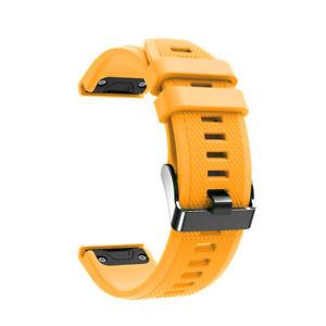 Laufbursche Zubehör Ersatz Armband für Garmin Fenix 6 Silikon gelb Sportarmband
