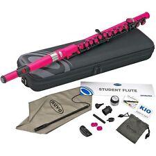 Nuvo Student Plastic Flute Kit Pink - Waterproof