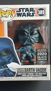 Darth Vader 2020 Galactic Convention Funko Pop! Exclusive - MIB + Free Protector