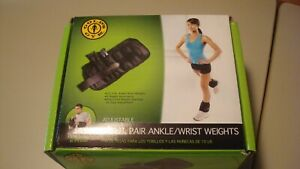 Golds Gym - Adjustable Ankle Weights,10 Lb Pair Ankle/Wrist Weights