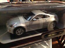 Nissan 350z Sintonizador 1/18 Edición Especial Plata Carretera Firma Sombreros