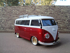 1:18 VW T1 Party Bus Tiefer Tuning mit Echt Alu Felgen Radio USB MP3 SD LED BT