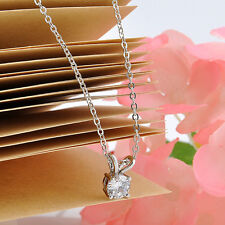 Women Crystal Pendant Chain Chunky Stainless steel Choker Necklace Jewelry Hot
