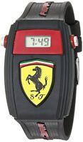 Scuderia Ferrari Quartz Resin and Silicone Casual Watch, Color:Black (Model: ...