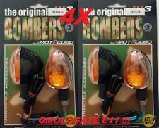 """4X FRECCE MOTO UNIVERSALI  BIKEDESIGN """"BOMBERS"""" OMOLOGATE CARBON LOOK !"""