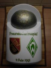 1991 TSV Kropp - SV Werder Bremen Testspiel Vase handgemalt Porzellan 28cm