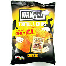 Wanted Tortilla Chips Cheese Flavour Full Case 12 x 150g