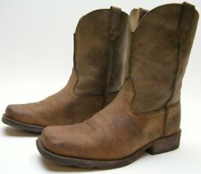 KIDS YOUTH ARIAT 10007602 BRN LEATHER SQUARE TOE RAMBLER COWBOY WESTERN BOOTS 3