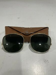 Vintage BAUSCH and LOMB Ray Ban Clip on Aviator Style Sunglasses 50 mm