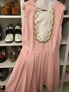 Stunning Red Valentino Pink Jeweled Dress Size 44 RRP $1700