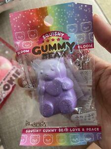 Ibloom Gummy Bear Squishy Grape Charm Purple Sweet New