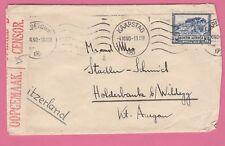 Enveloppe CAD CAPETOWN (Afrique du Sud) 4-11-40 pour SUISSE - Censored  WW II