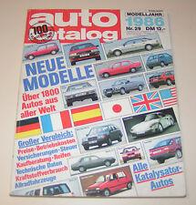 Autokatalog Nr. 29 - Modelljahr 1986!
