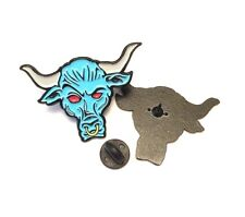 Brahma Bull Rock WWE, WWF, WCW, ECW, Hasbro Enamel Pin Badge 32MM Free Postage