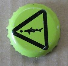 CHARTREUSE DOG FISH USED MICRO PLASTIC LINED BEER CAP