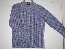 HAMMERSCHMID - Kinder Trachtenhemd, Langarm, Blau - Weiß kariert, Gr. 128 NEU