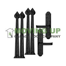 Premium Magnetic Decorative Escutcheon Clavos Strap Handle Hinge Set Garage Door
