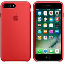 Luxury Soft Gel Original Genuine Apple Silicone Back Case Cover Red For iPhone 7