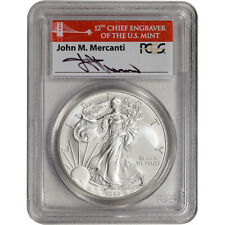 2012-(S) American Silver Eagle - PCGS MS70 Mercanti Signed