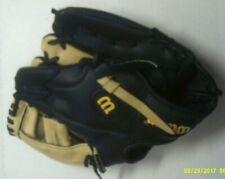 Wilson MLB RHT Youth 11 Inch, Model AO26OTR11, Black Baseball Glove, Tan Webbing