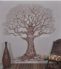 Large Tree of Life Wall Hanging Indian Cotton Bedspread Gypsy Throw Tapestry