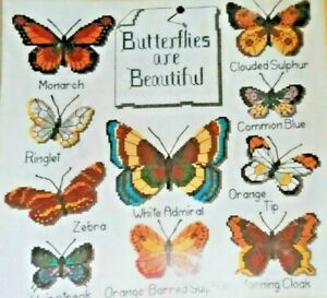 "Dimensions Cross Stitch Instructions 7867 ""Butterfly Collection""  12"" x 12"""