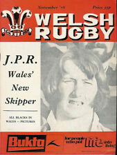 WELSH RUGBY MAGAZINE NOVEMBER 1978 NZ ALL BLACKS TOUR, RESOLVEN RFC, NEWPORT