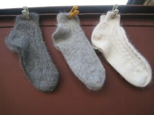 women's Athletic Low Cut Ankle Socks  goat down cashmere Homemade Russian craft