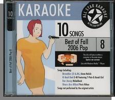 Karaoke CD+G - Best of Fall 2006 Pop, Vol 8 - New 10 Song All Star Karaoke CD!