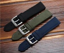 Nylon & Leather Watch Strap For Seiko Skx007 Skx009 Canvas Watchband Replacement
