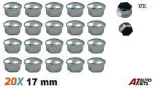20x 17mm Chrome Alloy Car Wheel Nut Bolt Covers Caps Universal For Any Car