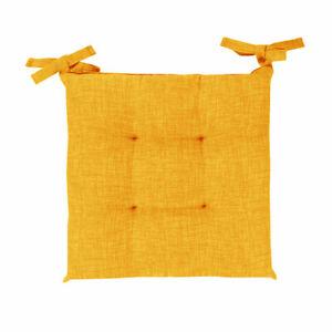 Funda para Silla 6 Cojines Cordones Color Liso Mezcla Amarillo Algodón Sarani