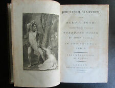 1783 Jerusalem Delivered 1st Thus Engravings & Notes RARE 5th Edition EPIC POEM