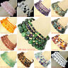 Charm Natural Gemstone Round Beads Stretch Bracelet 62 Style 4mm 6mm 8mm 10mm