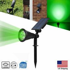Solar LED Spot lights Garden Outdoor Lawn Lamp Landscape Wall Lights Green US