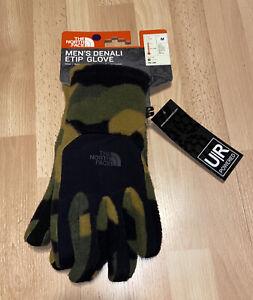 New Mens North Face Denali Etip Glove Size Medium Camo