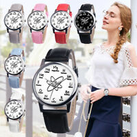 Womens Ladies Casual Watch Faux Leather Analog Quartz Girls Wrist Watches 2019