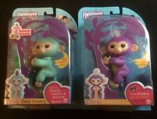 WOWWEE FINGERLINGS BABY MONKEY'S MIA w/bonus stand & ZOE same day shipping