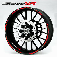BMW s1000XR motorcycle wheel decals 12 rim stickers set s1000 XR stripes red