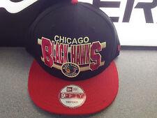 CHICAGO BLACKHAWKS Snapback cap word stripe New Era green undervisor teal black