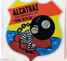 Alcatraz Vintage Style Travel Decal / Vinyl Sticker, Luggage Label