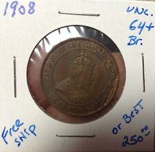 1908 Canadian Large Cent Uncirculated
