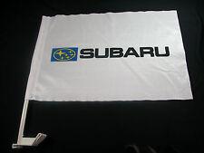 Subaru Flag for Car Sale ! EZ Car Flags Car Window mounted clip on Closeout