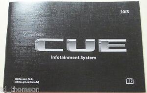 """GM 2013 Cadillac """"CUE"""" Navigation Manual #22925639A"""