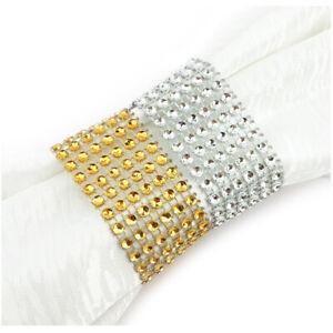 Serviettenhalter Tisch Dekoration Serviettenringe Silber Gold Strassband Glitzer
