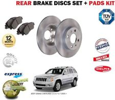 FOR JEEP GRAND CHEROKEE 3.0 4.7 5.7 2005-> REAR BRAKE DISCS SET + DISC PADS KIT