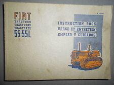 Fiat tracteur 55 55L chenillard : notice d'utilisation et d'entretien
