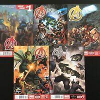 Avengers #24,25,26,27,28 Marvel Now Series Marvel Comics  VF/NM