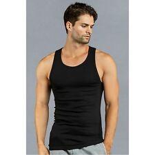 3-6-12 Pack Athletic Men's A-Shirt Tank Tops 100% Cotton (BLACK)