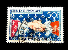 France  Postage Stamp 1959  Treaty of the Pyrenes    Used